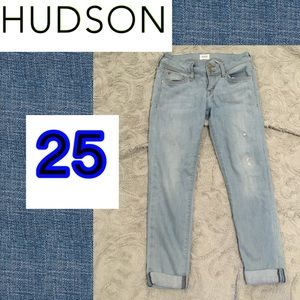 Sz 25 Hudson Ginny ankle light blue Jeans